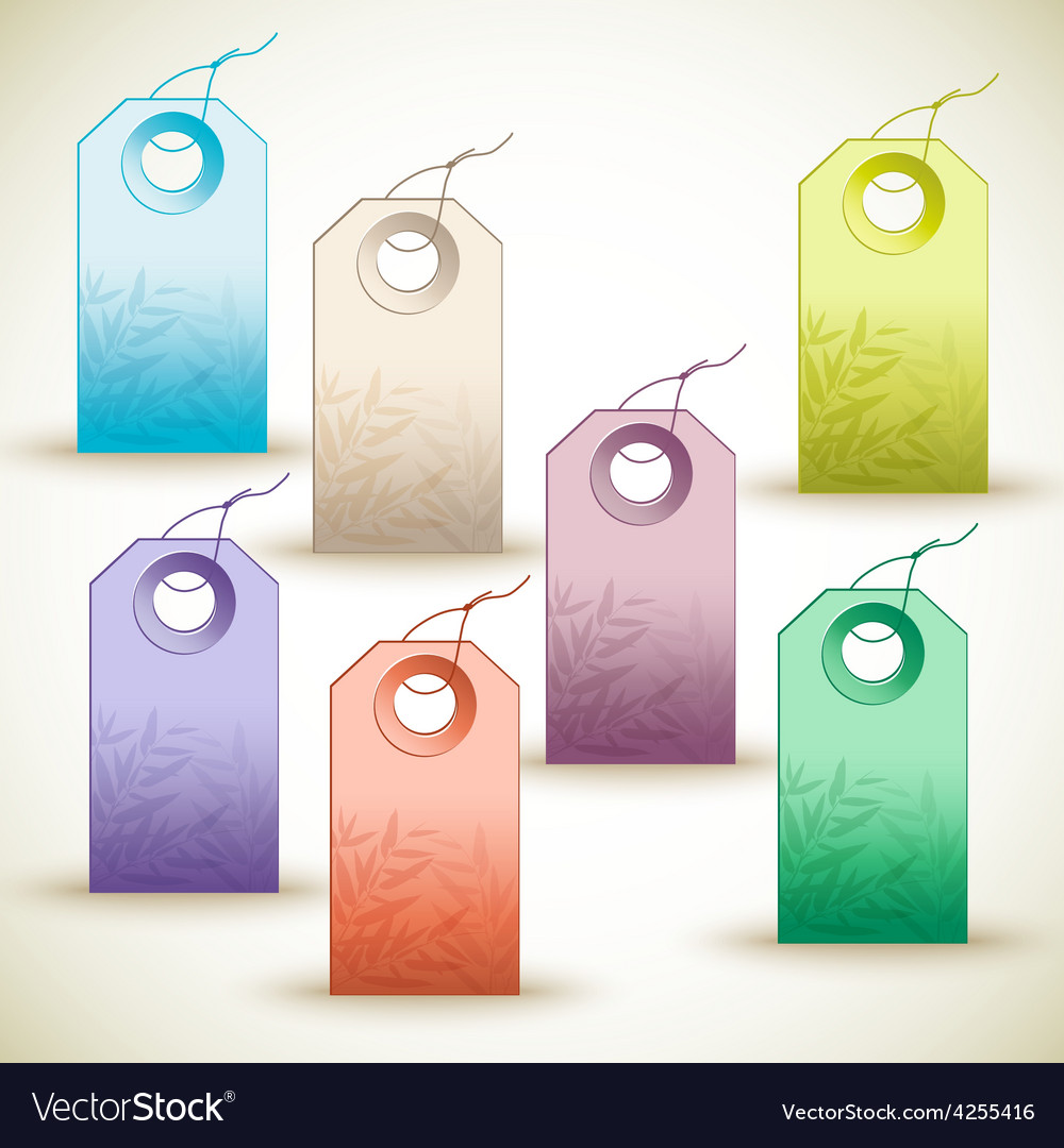 Many colorful tags on white background vector | Price: 1 Credit (USD $1)