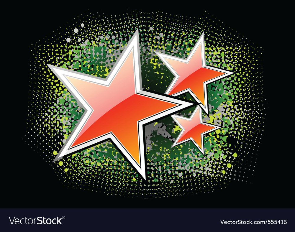 Red stars on the black background vector | Price: 1 Credit (USD $1)