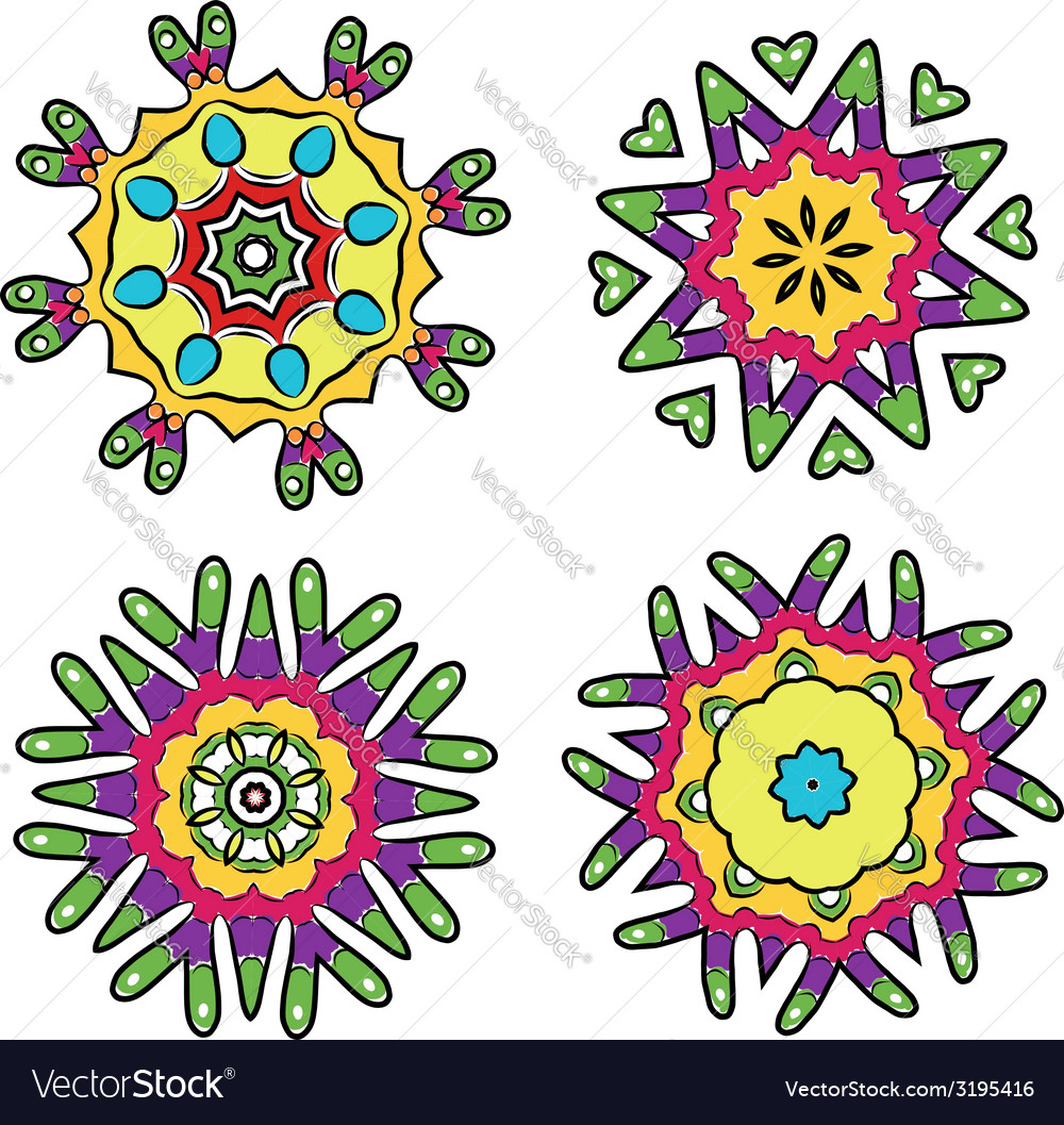 Set of floral ornaments for your design vector | Price: 1 Credit (USD $1)