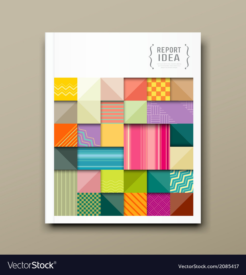 Annual report colorful pattern fabrics square vector | Price: 1 Credit (USD $1)