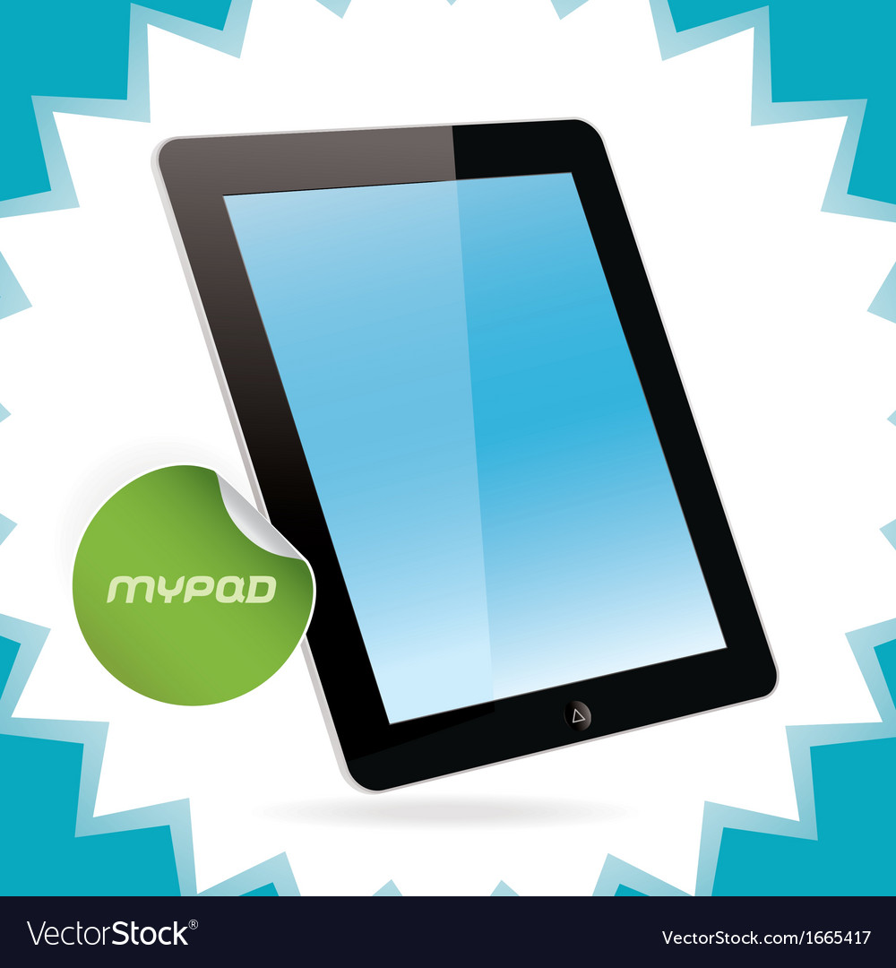 Black glossy tablet pad vector | Price: 1 Credit (USD $1)