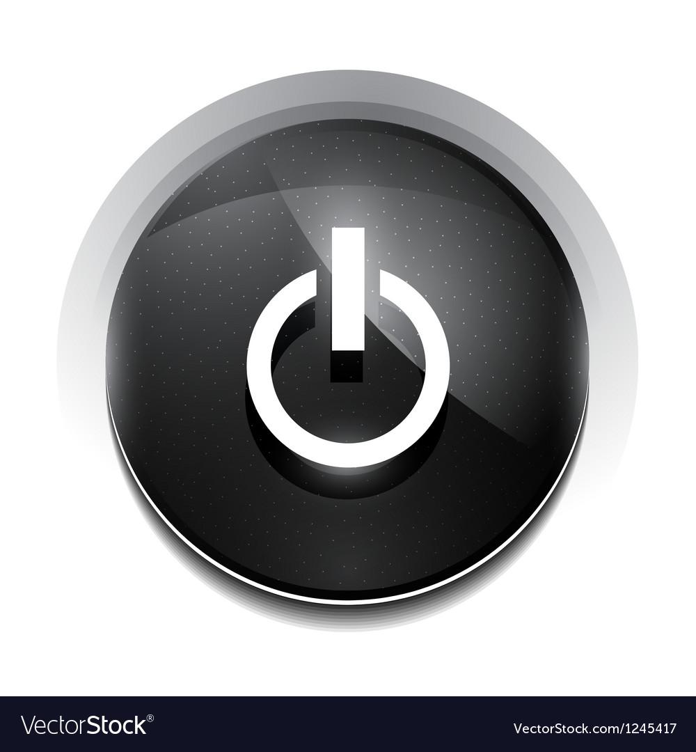 Black power button vector | Price: 1 Credit (USD $1)