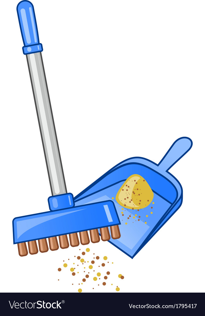 Broom and dustpan vector | Price: 1 Credit (USD $1)