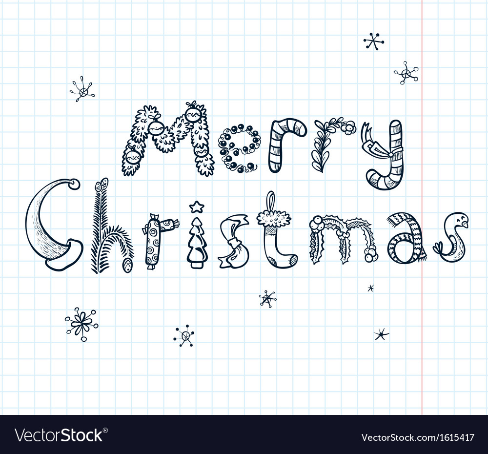 Christmas lettering vector | Price: 1 Credit (USD $1)