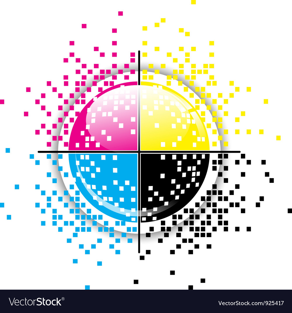 Creative cmyk pixelated design vector | Price: 1 Credit (USD $1)