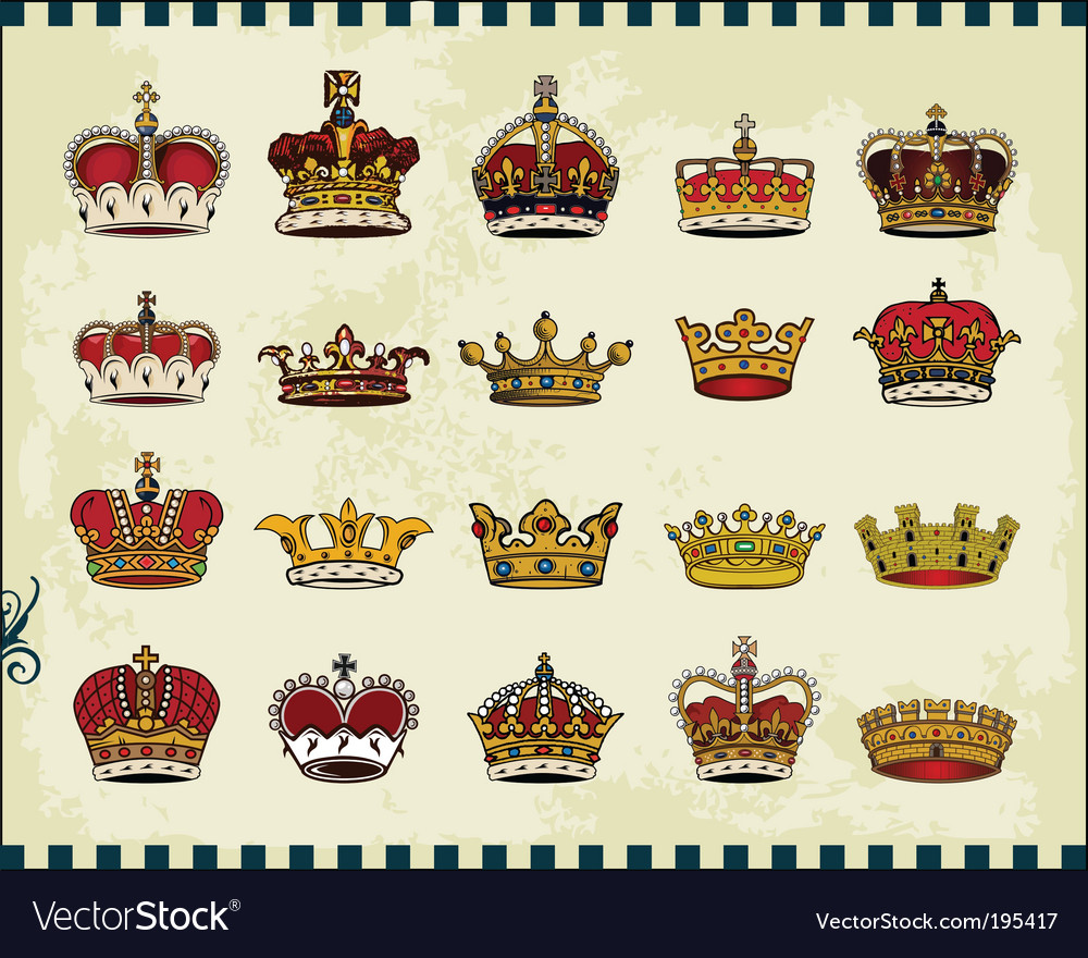 Crowns vector | Price: 3 Credit (USD $3)