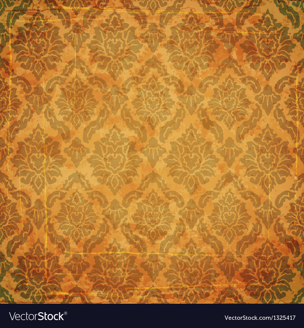 Damask ancient background vector | Price: 1 Credit (USD $1)