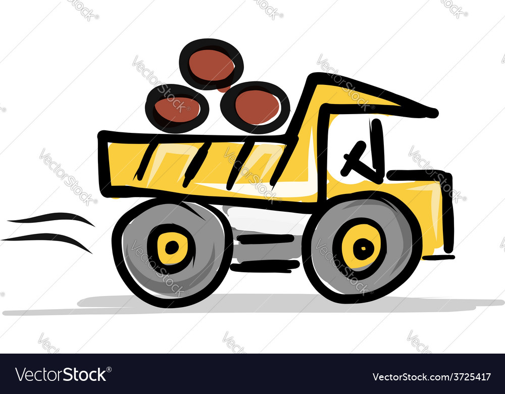 Dumper construction equipment for your design vector | Price: 1 Credit (USD $1)