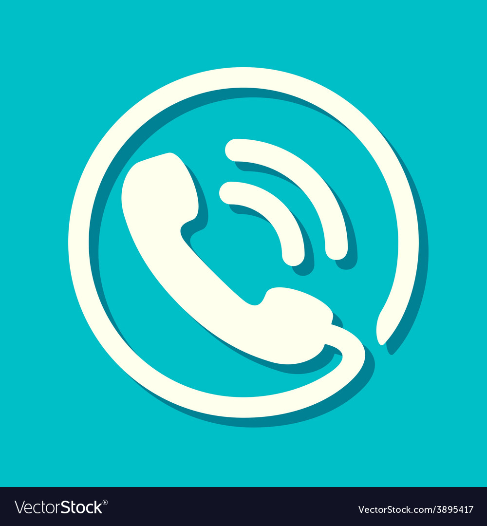 Flat phone icon vector | Price: 1 Credit (USD $1)