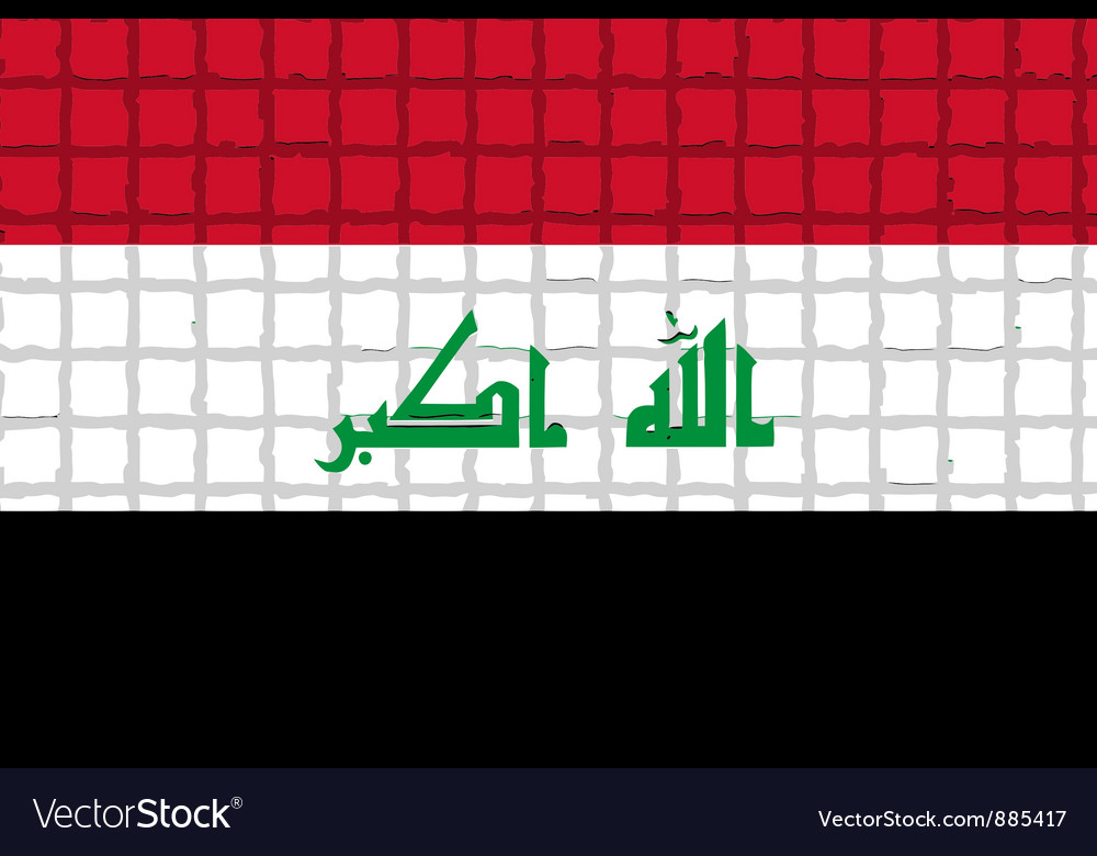 The mosaic flag of iraq vector | Price: 1 Credit (USD $1)