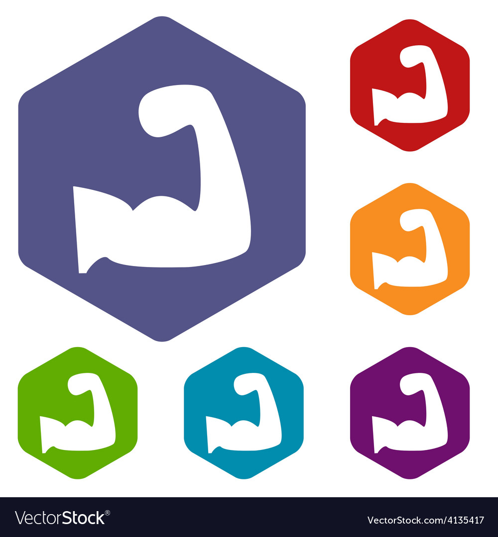 Strength rhombus icons vector | Price: 1 Credit (USD $1)