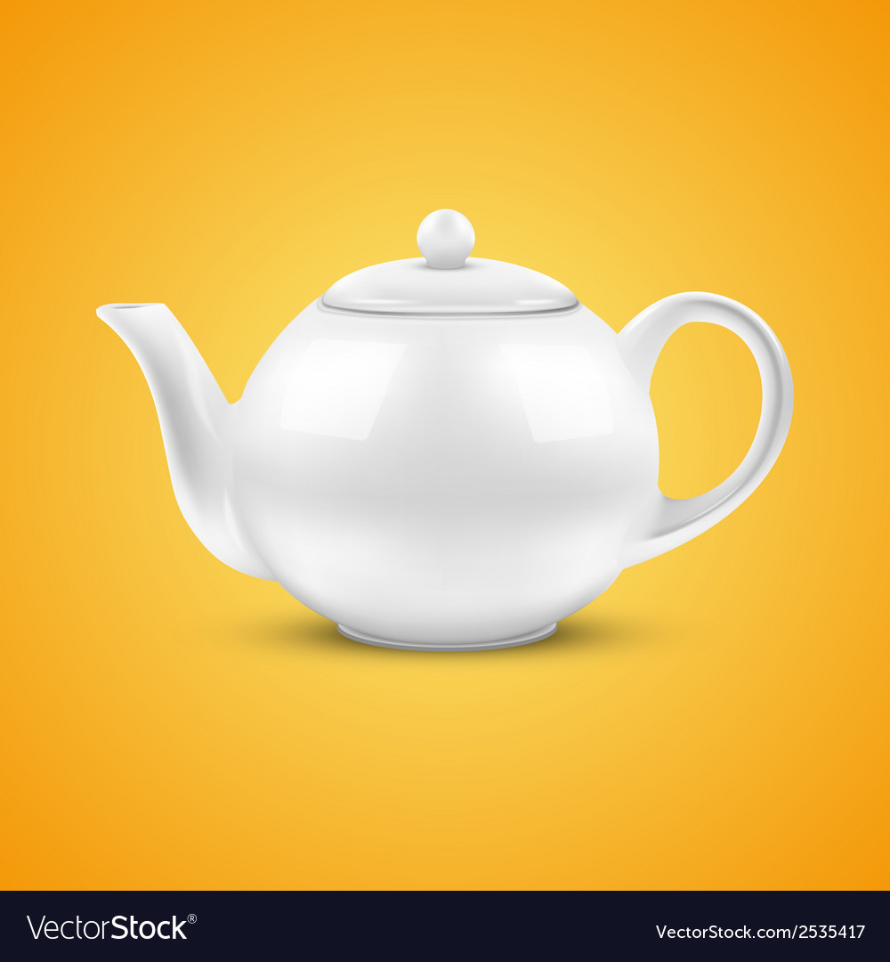 White ceramic teapot vector | Price: 1 Credit (USD $1)