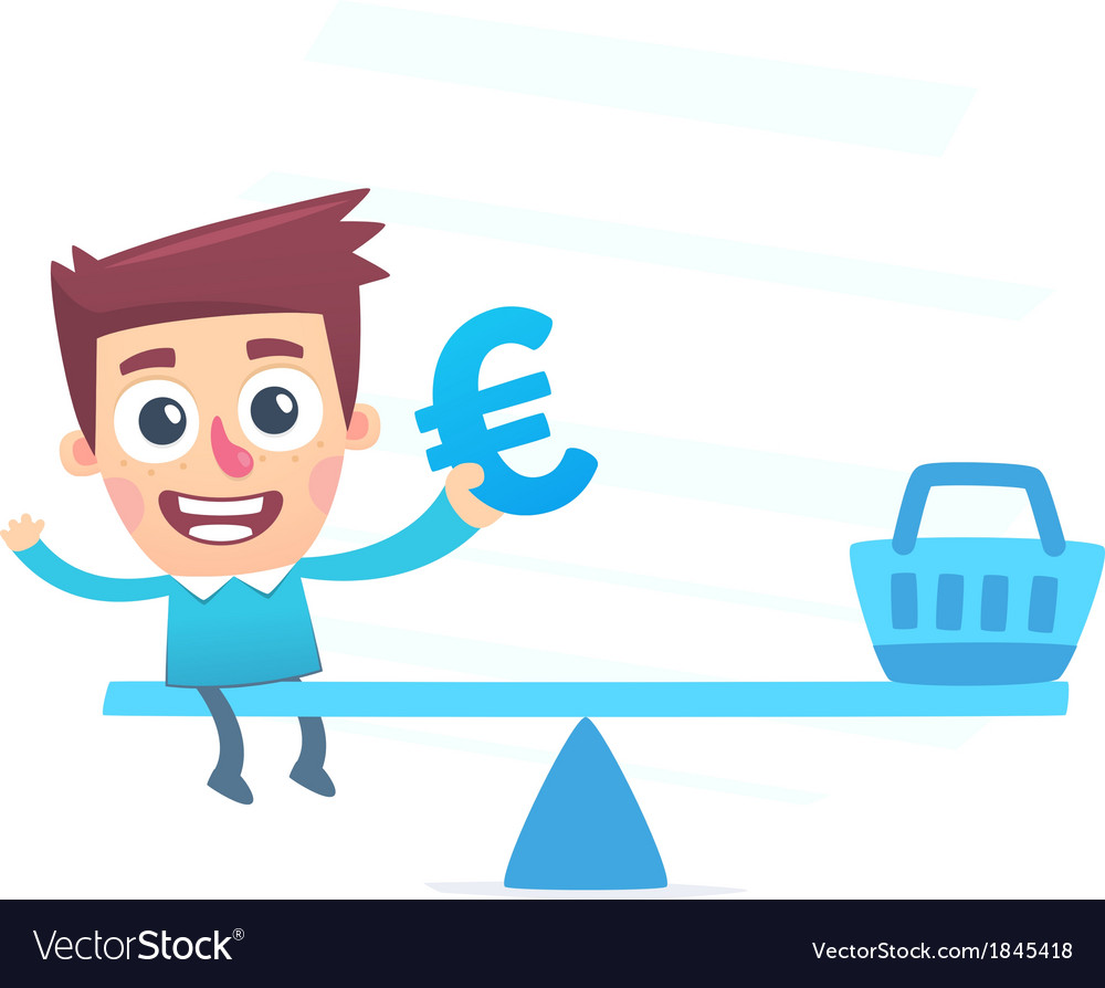 Balanced waste of money vector | Price: 1 Credit (USD $1)