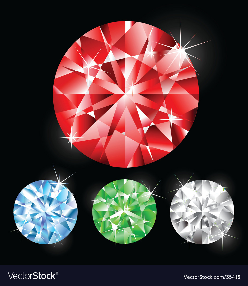 Gemstones vector | Price: 1 Credit (USD $1)
