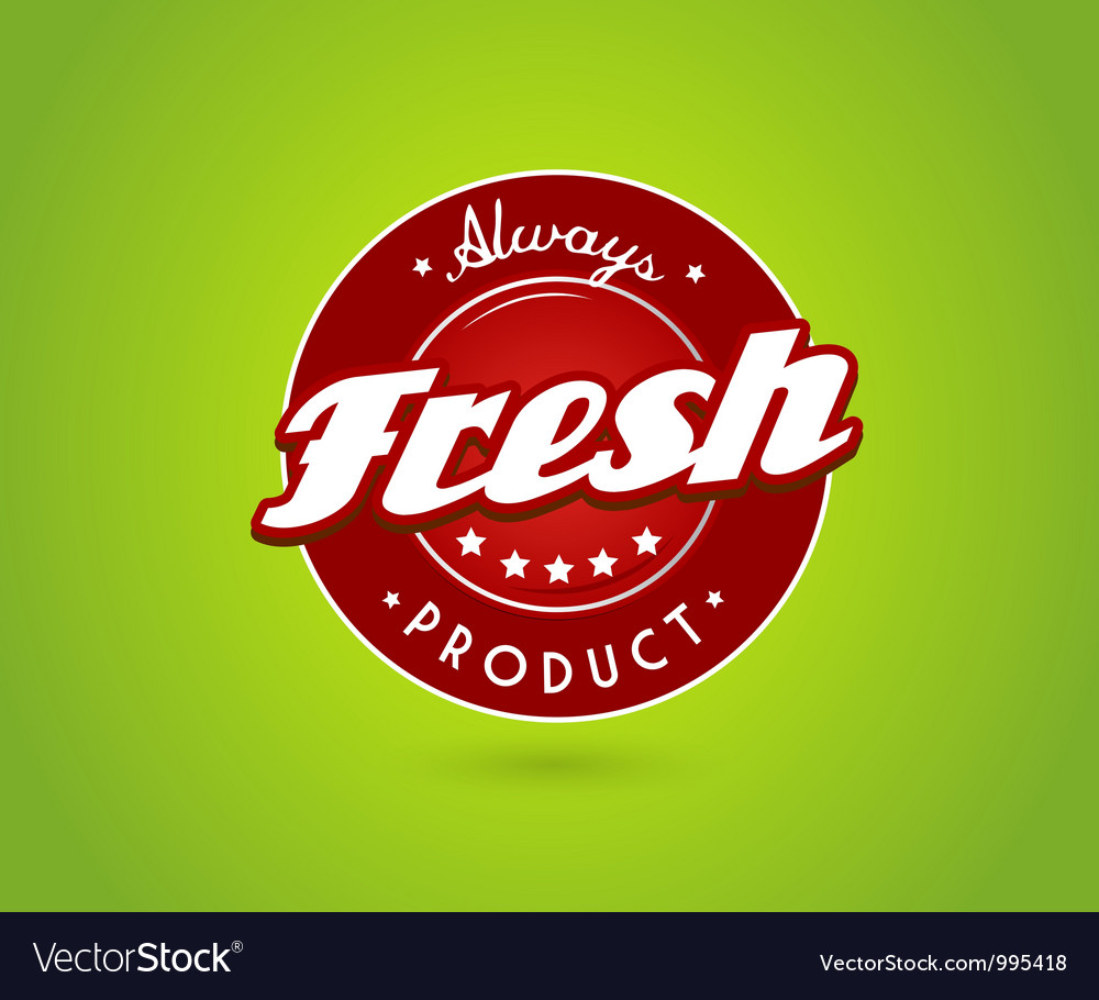 Green board with fresh product sign vector | Price: 1 Credit (USD $1)