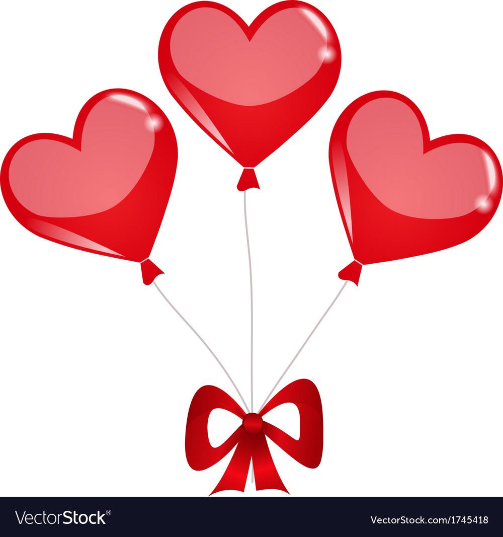 Heart balloons vector | Price: 1 Credit (USD $1)