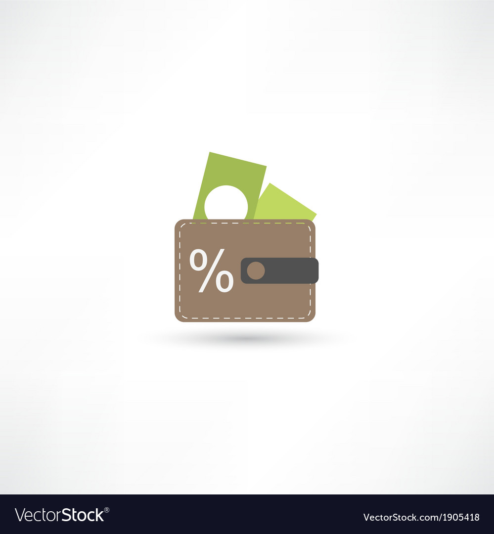 Purse with money vector | Price: 1 Credit (USD $1)