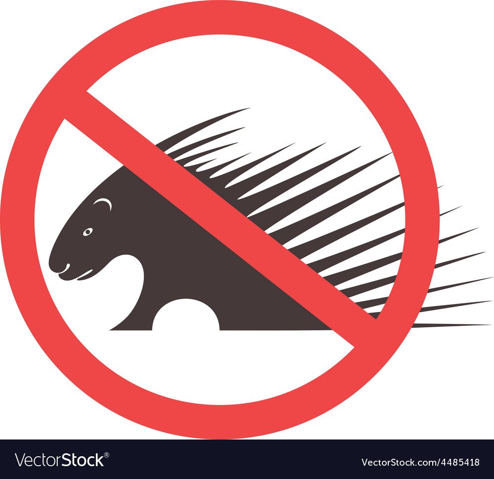 Stop porcupine sign vector | Price: 1 Credit (USD $1)