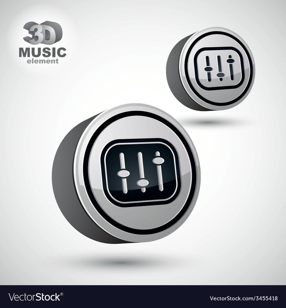 Studio sound equipment icon mixing console 3d vector | Price: 1 Credit (USD $1)