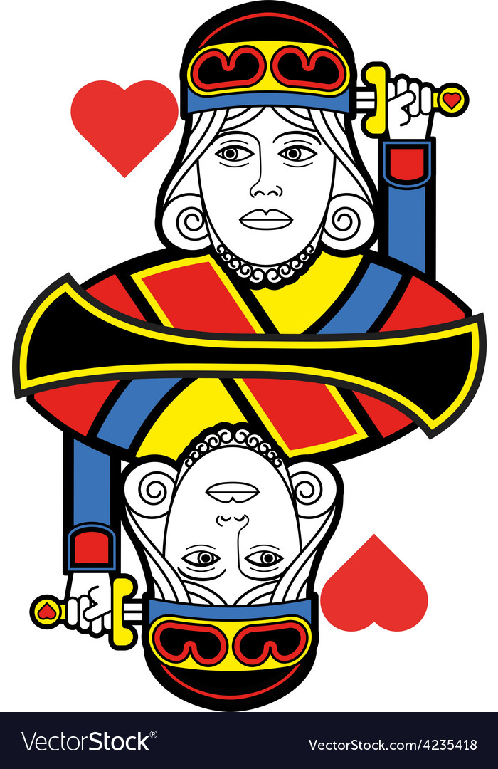 Stylized king of hearts no card vector | Price: 1 Credit (USD $1)