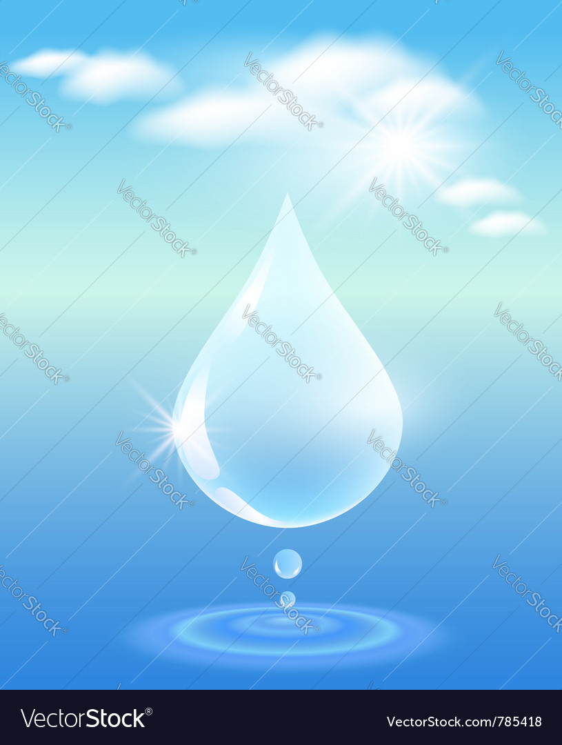 Symbol of clean water vector | Price: 1 Credit (USD $1)