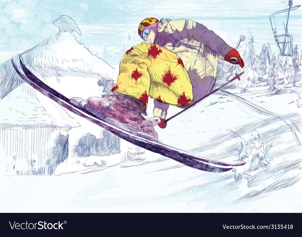Trick skiing vector | Price: 1 Credit (USD $1)