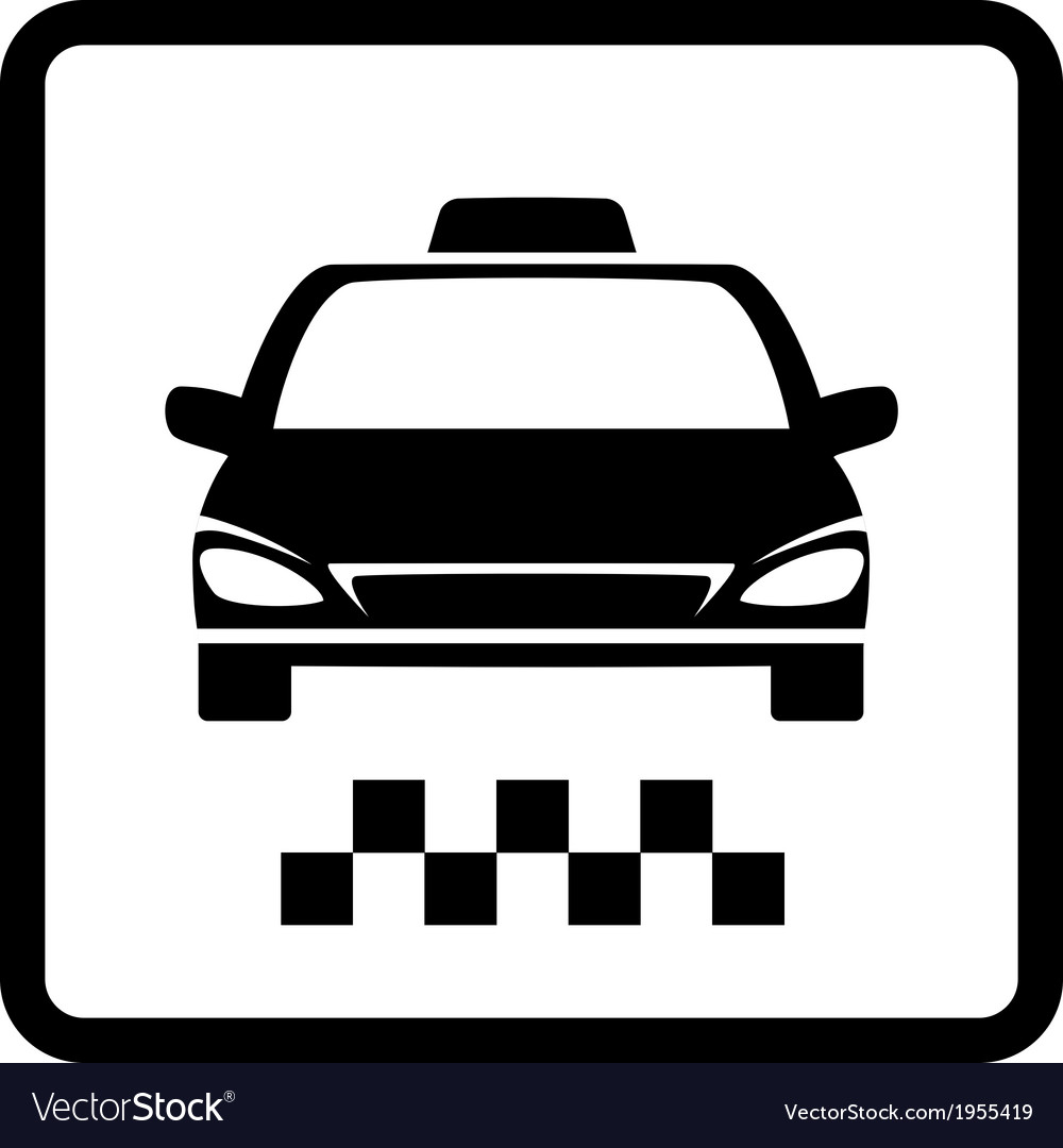 Black taxi car vector | Price: 1 Credit (USD $1)