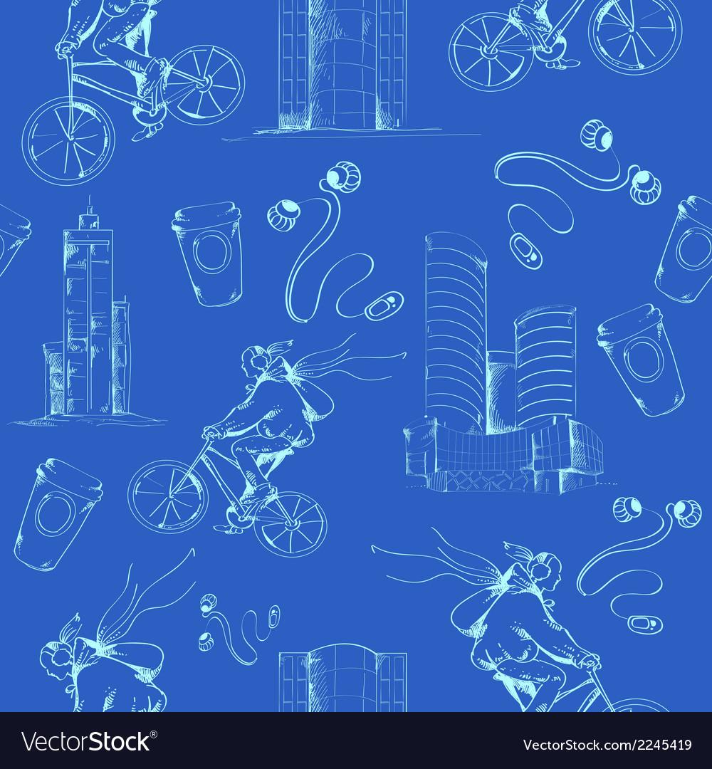 Blueprint city seamless pattern vector   Price: 1 Credit (USD $1)