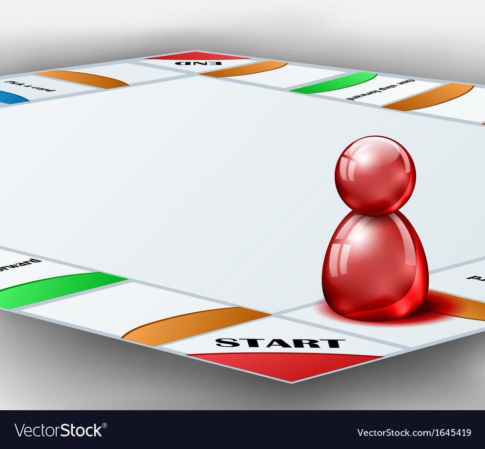 Board game with red figure vector | Price: 1 Credit (USD $1)
