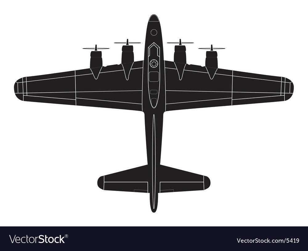 Classic big war plane vector | Price: 1 Credit (USD $1)