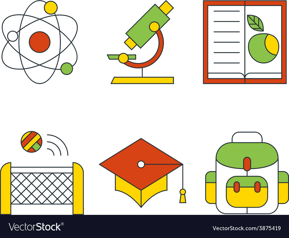 Education and science concept flat design vector | Price: 1 Credit (USD $1)