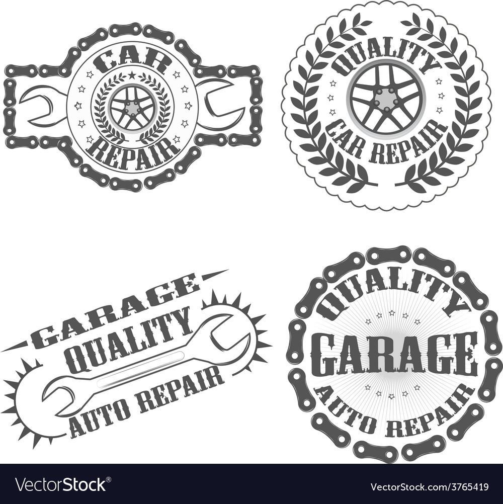 Garage auto repair vector | Price: 1 Credit (USD $1)