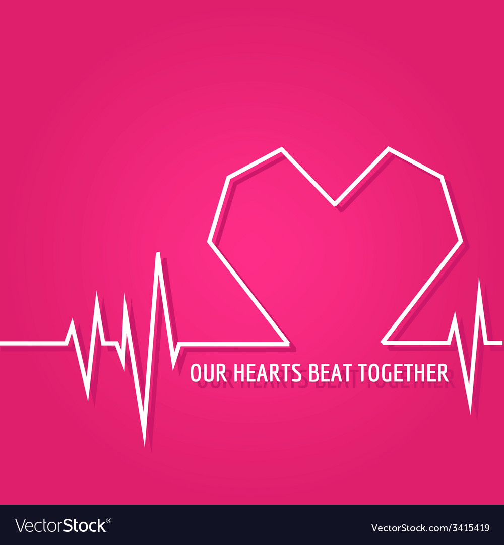 Heart beat - love design for valentines day logo vector | Price: 1 Credit (USD $1)
