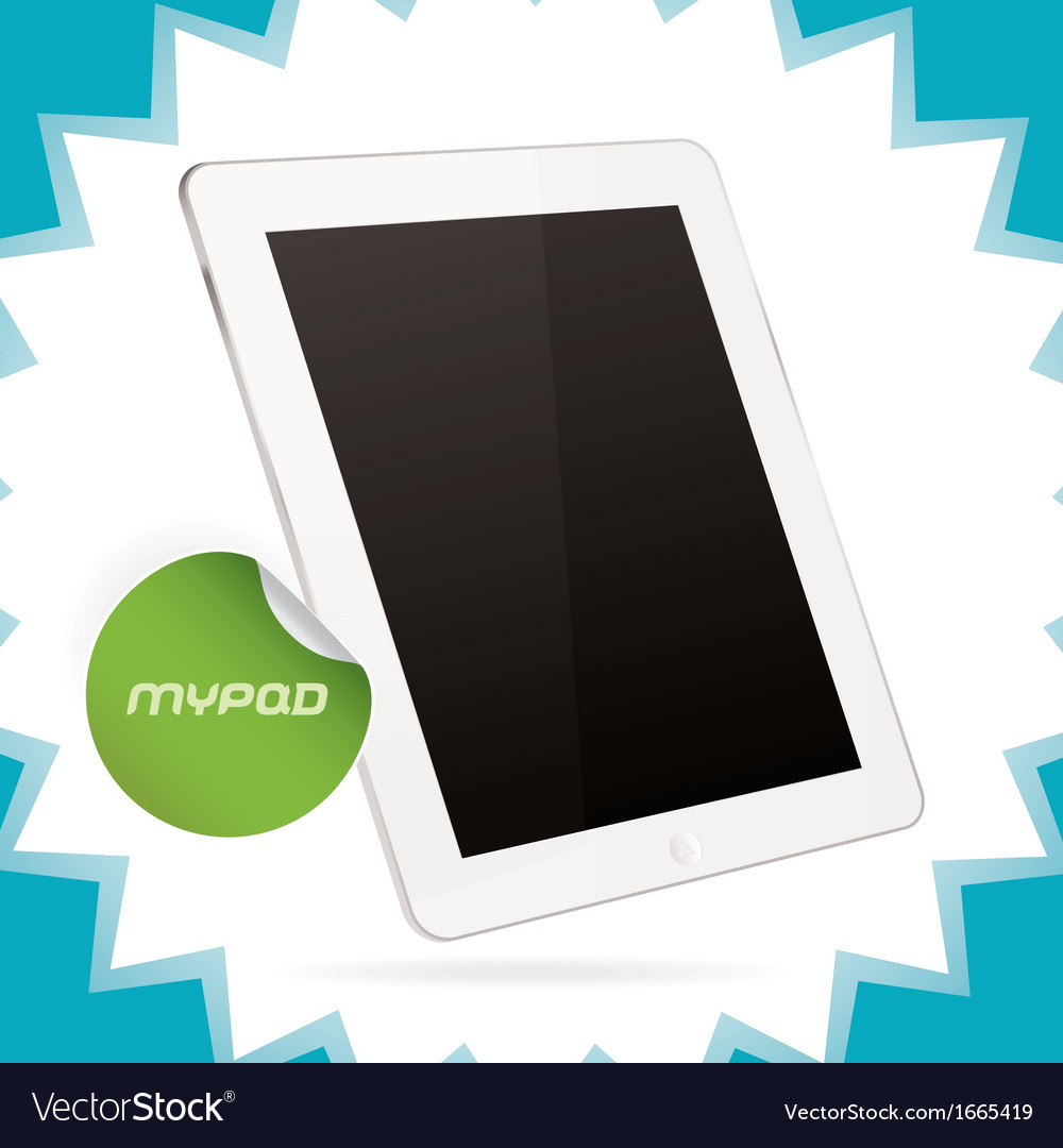 White glossy tablet pad vector | Price: 1 Credit (USD $1)