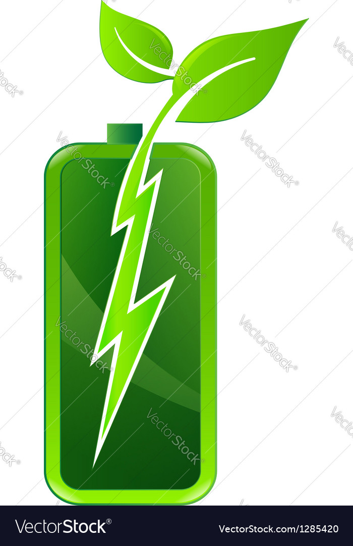 Battery plant vector | Price: 1 Credit (USD $1)