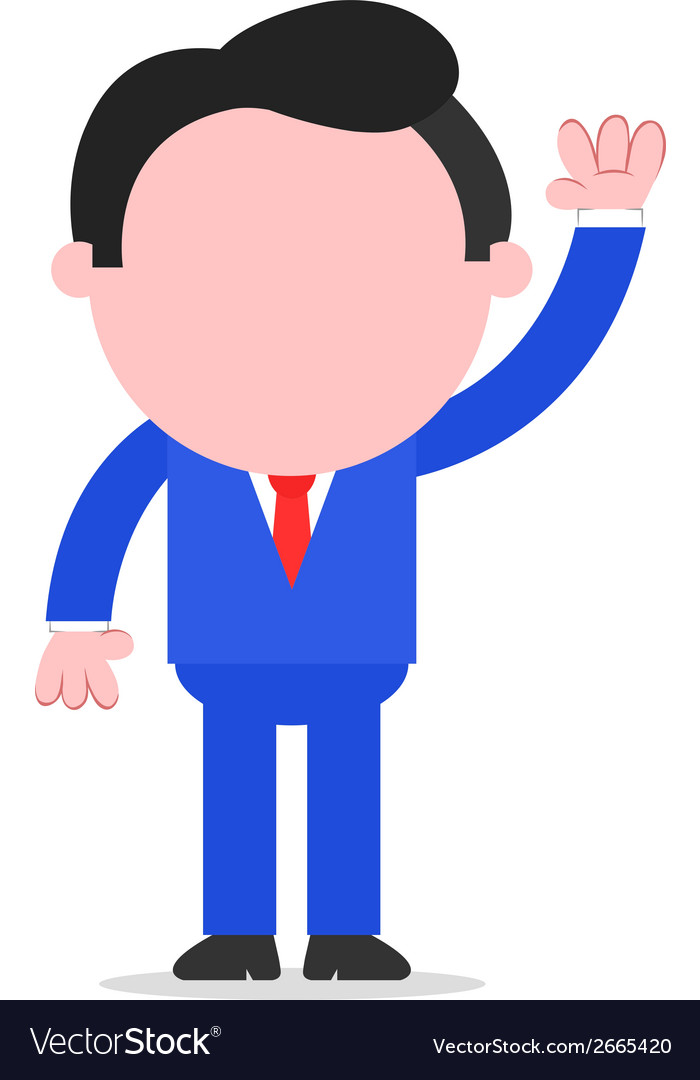 Businessman waving hand vector | Price: 1 Credit (USD $1)