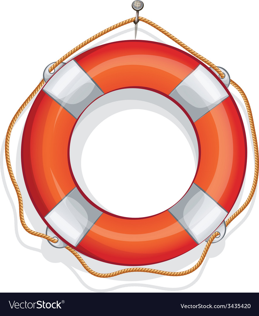 Cartoon of lifebuoy vector | Price: 1 Credit (USD $1)