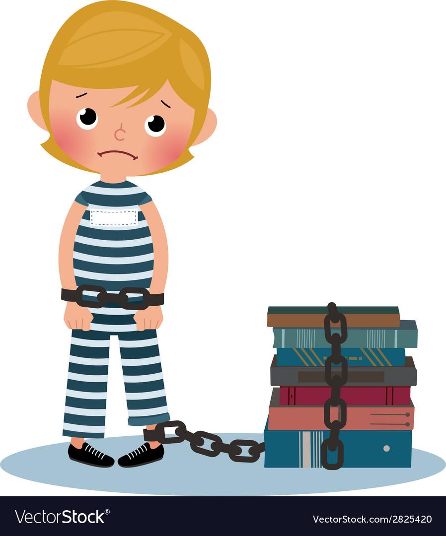 Child prisoner vector | Price: 1 Credit (USD $1)