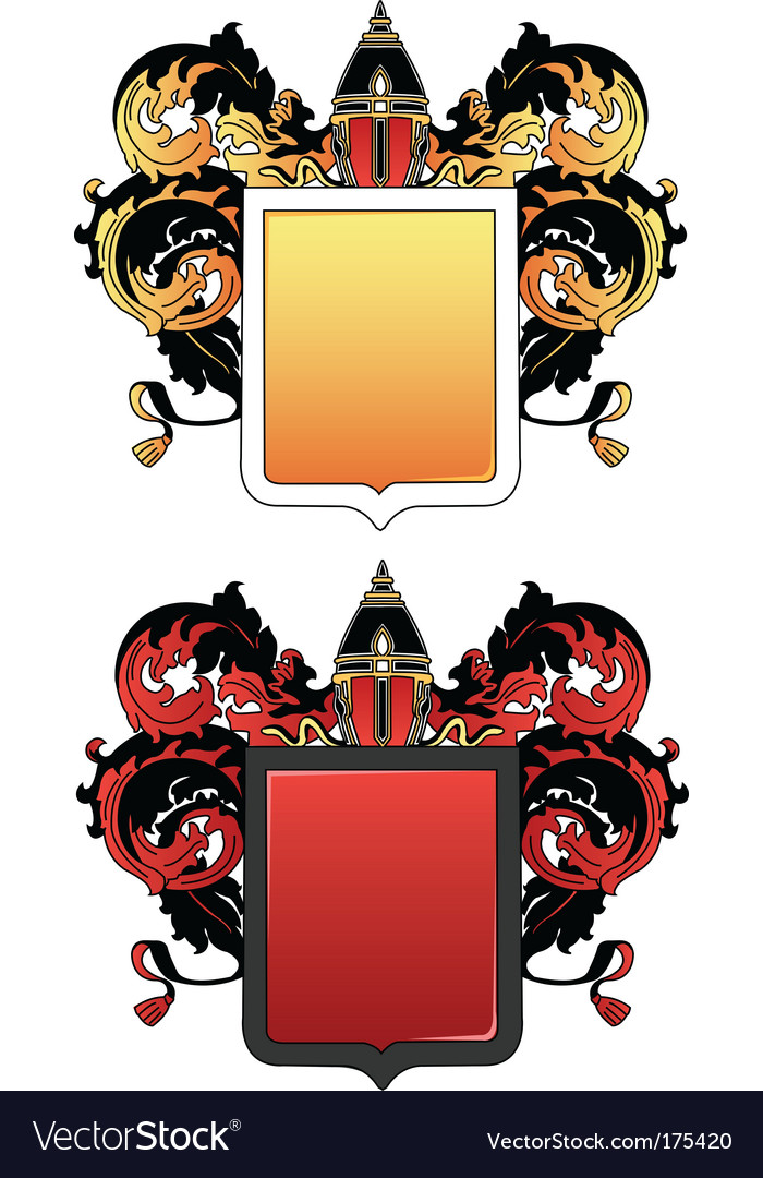 Coat of arms 2 colored vector | Price: 1 Credit (USD $1)