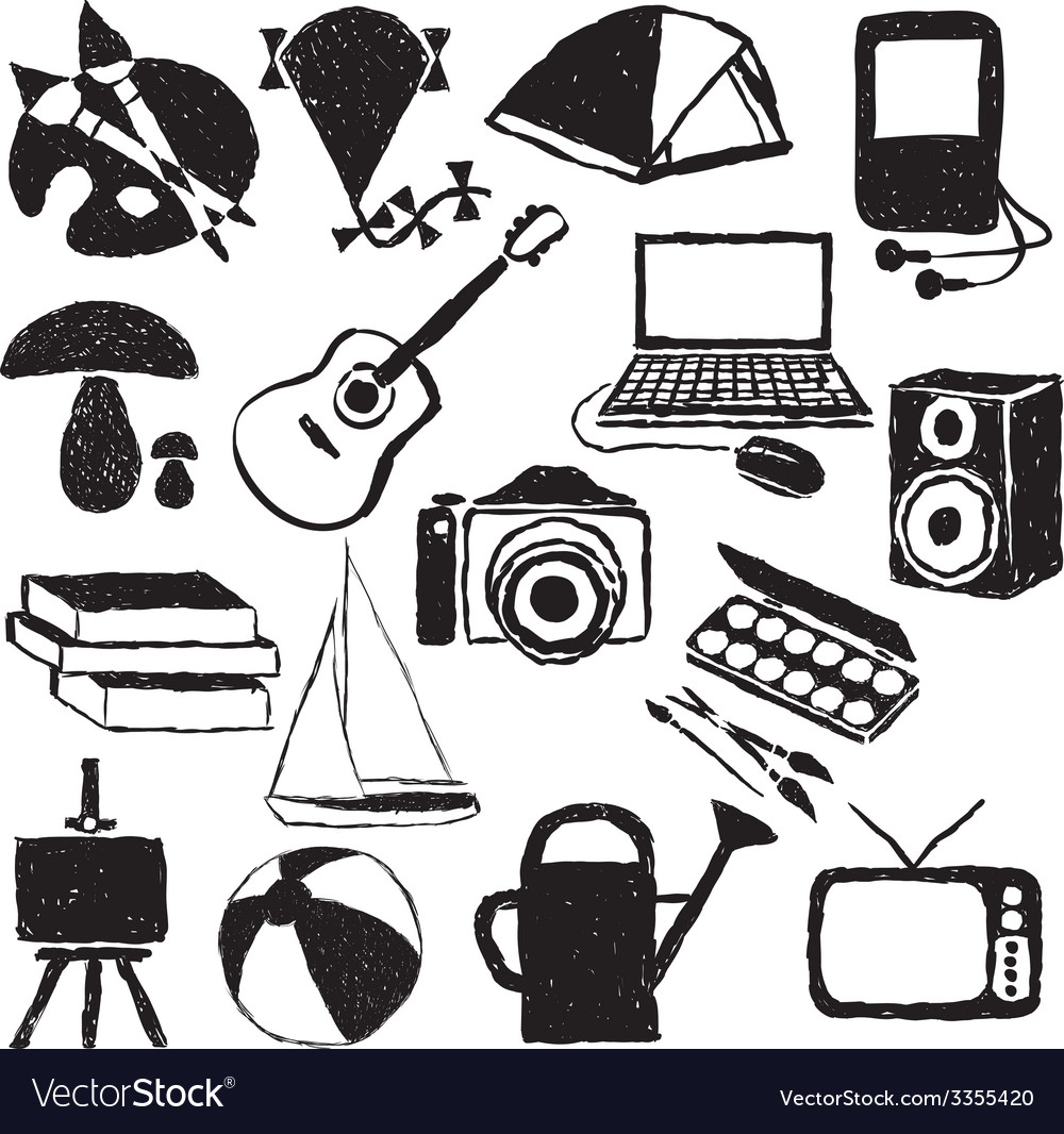 Doodle hobby images vector | Price: 1 Credit (USD $1)