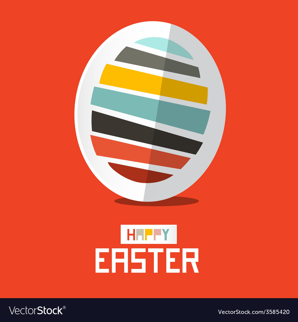 Easter paper egg on red background vector | Price: 1 Credit (USD $1)