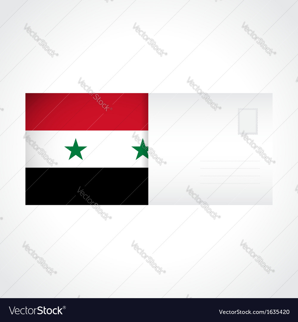 Envelope with syrian flag card vector | Price: 1 Credit (USD $1)