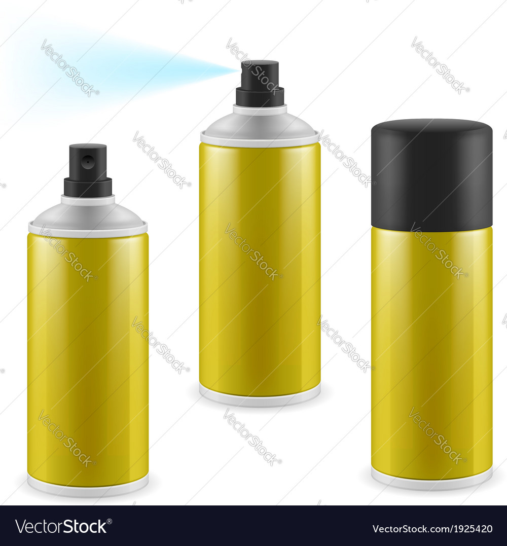 Golden spray cans vector | Price: 1 Credit (USD $1)