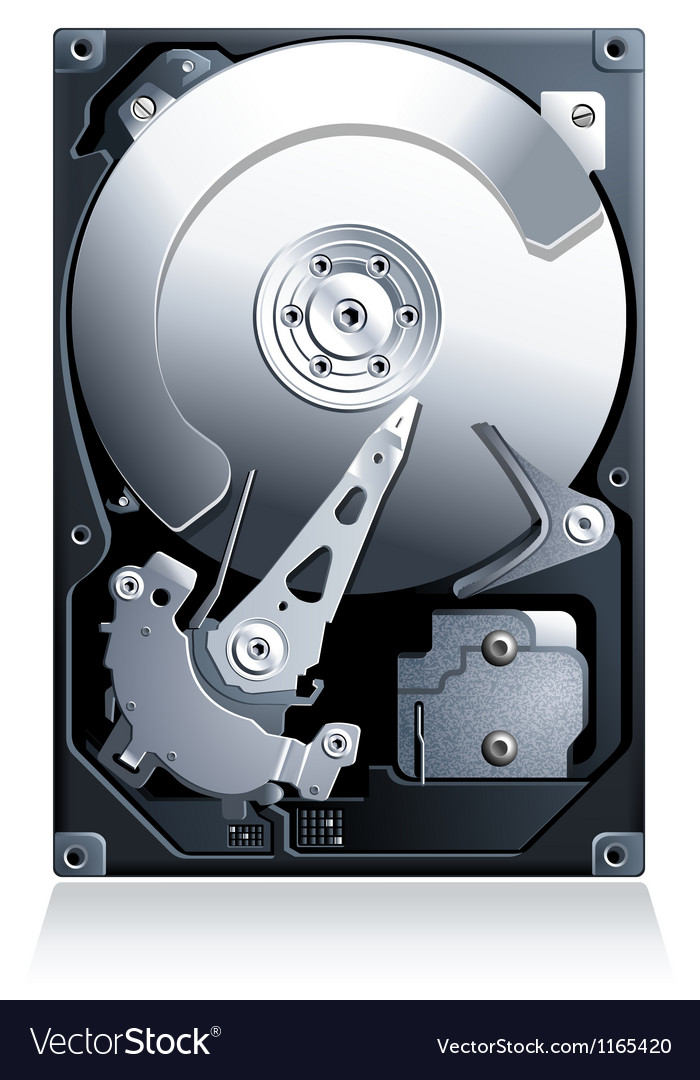 Hard disk drive hdd vector | Price: 1 Credit (USD $1)