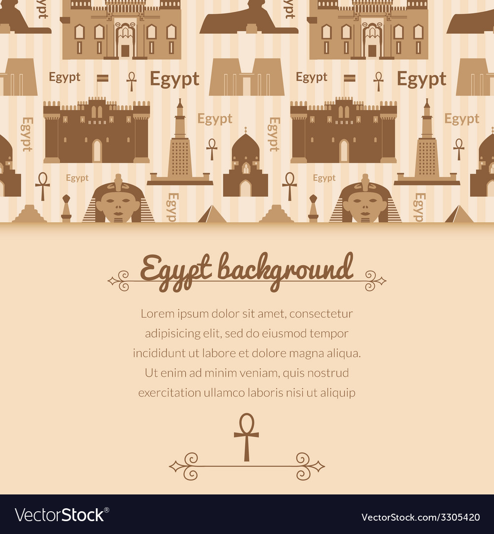 Landmarks of egypt background vector | Price: 1 Credit (USD $1)