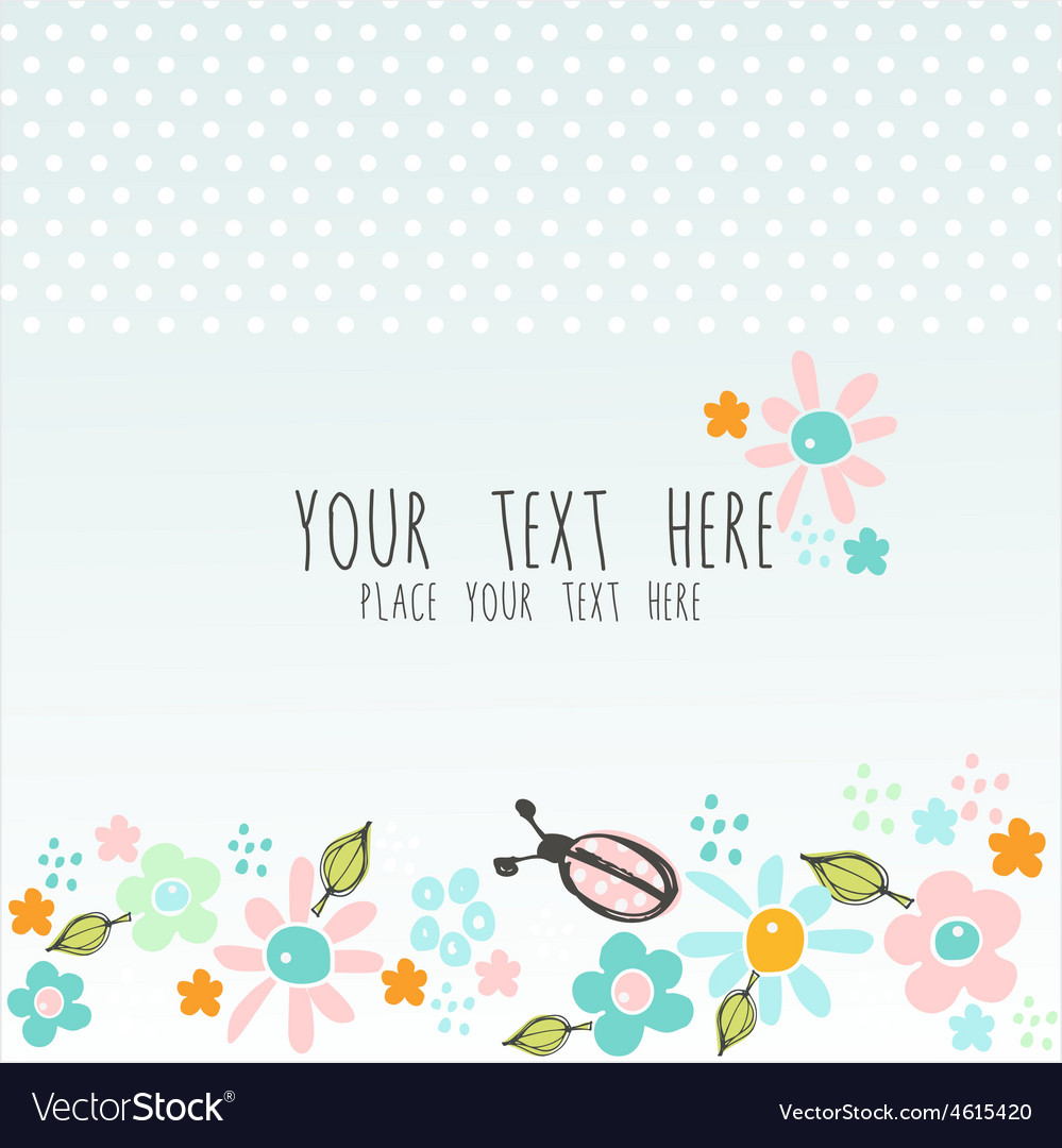 Lovely blue card vector | Price: 1 Credit (USD $1)