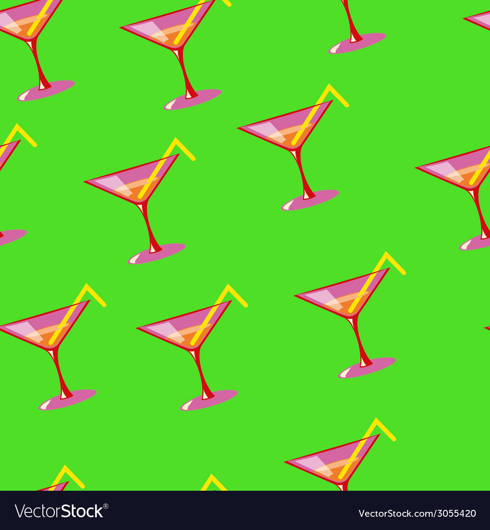 Martini seamless pattern vector | Price: 1 Credit (USD $1)