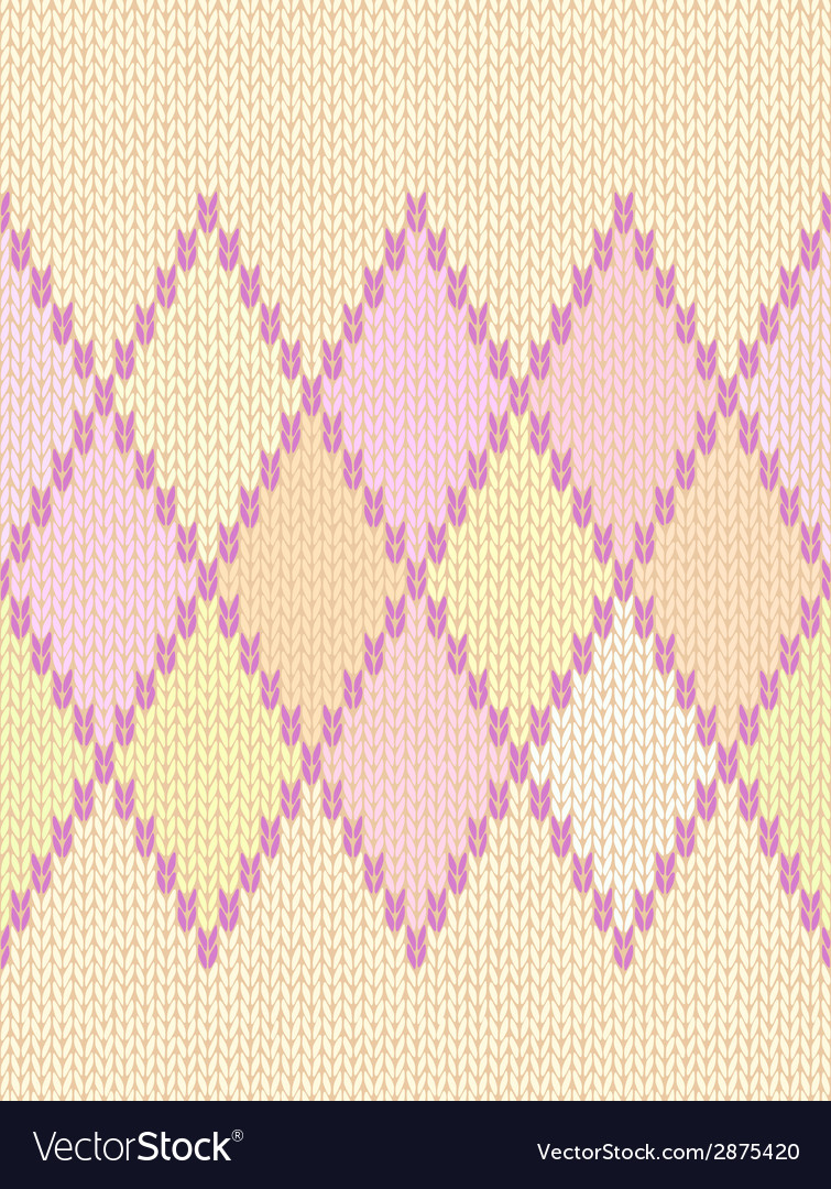 Seamless ethnic geometric knitted pattern vector | Price: 1 Credit (USD $1)