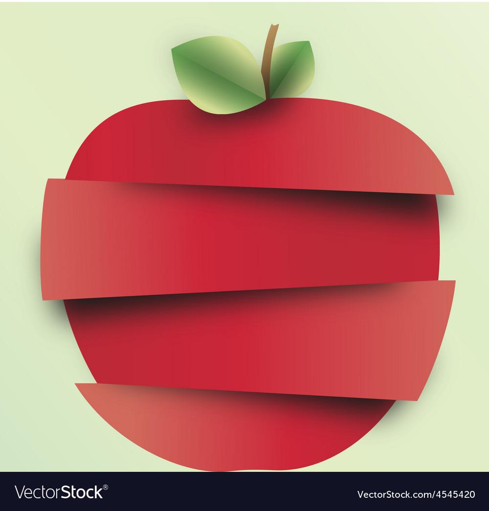 Sliced apple vector | Price: 3 Credit (USD $3)
