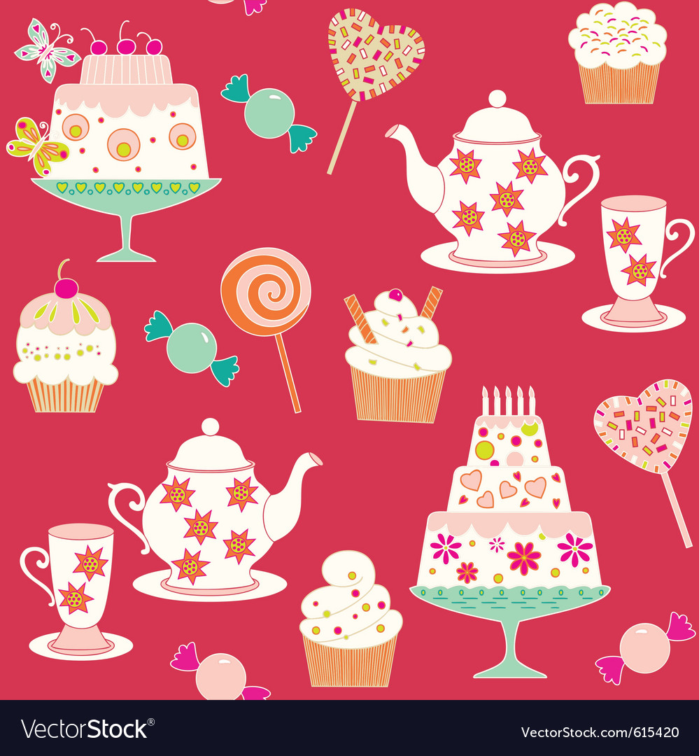 Tea and sweets vector | Price: 1 Credit (USD $1)